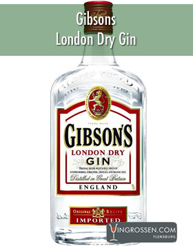 Gibsons London Dry Gin 1L* in the group Spirits /  at Vingrossen.com - Vingrossen Handel GmbH (11550)