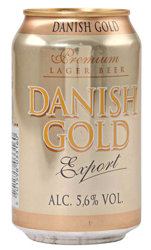 Danish Gold Export 5,6% 24x0,33l in the group Beer / Beer at Vingrossen.com - Vingrossen Handel GmbH (18019)