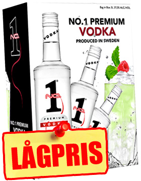 NO. 1 Premium Svensk Vodka 3L BiB in the group Spritdrycker / Vodka at Vingrossen.com - Vingrossen Handel GmbH (303.001.001)