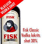 Fisk The Classic - Klassisk Vodka Shot 30% 1L