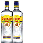 2-pack Gordons London Dry Gin 2st x 1 Liter*