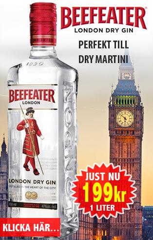 199kr 1liter Beefeater Gin Vingrossen.com