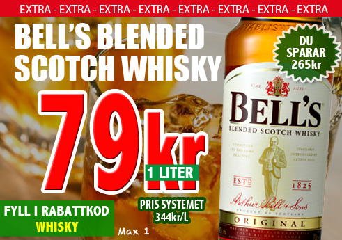79kr 1liter Bells Blended Scotch Whisky