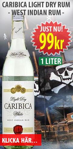 99kr Caribica Dry White Rom 1 liter
