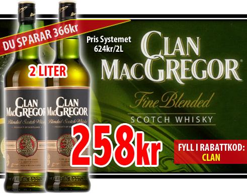 2 liter clan Macgregor Whisky
