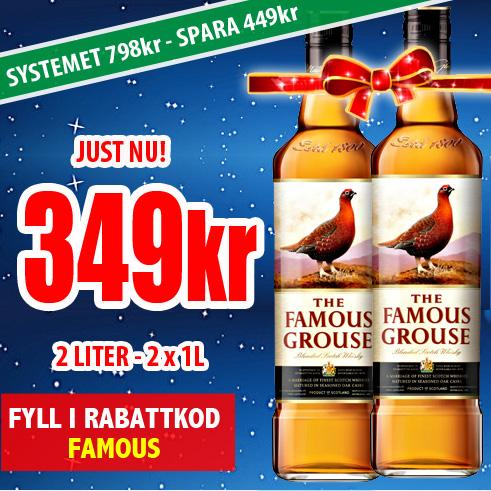 349kr 2L Famous Grouse
