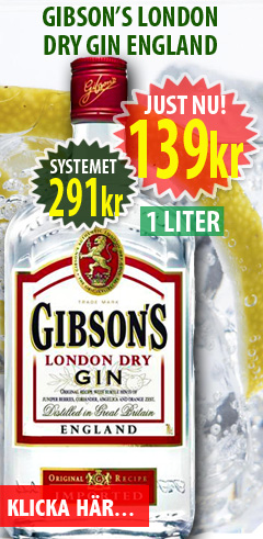 139kr Gibson London Dry Gin 1 liter