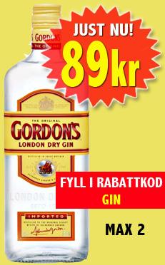Gordons Gin 89kr