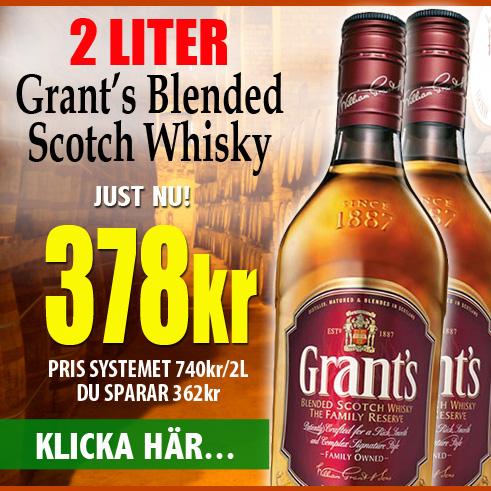 378kr 2L Grants Whisky