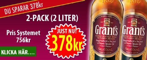 Grants Whisky 2p 2 Liter 378kr