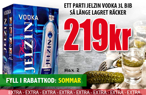 219kr 3 Liter Jelzin Vodka