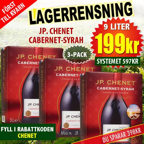 3-pack JP Chenet BiB 9l