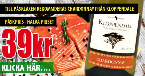 39kr Chardonnay Kloppenburg Sydafrika