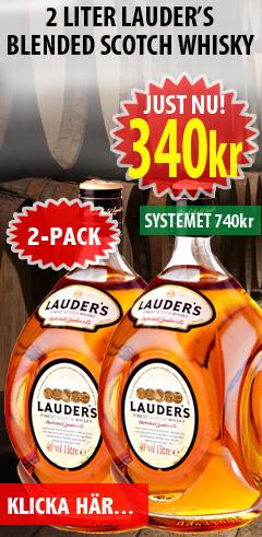 340kr 2 liter Lauders Whisky
