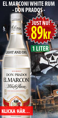 89kr 1 liter El Marconi White Rum