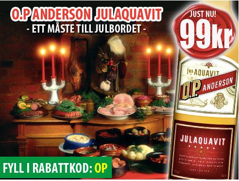 99kr OP Anderson Julaquavit