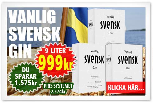 999kr 9 liter Svensk Gin