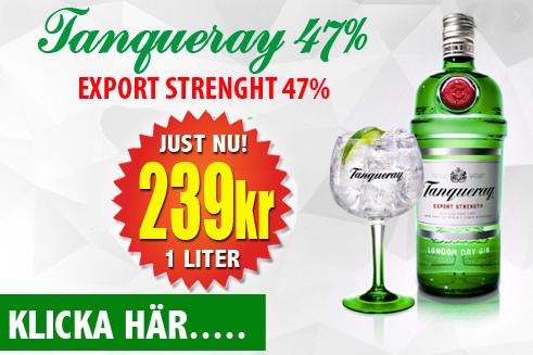 239kr 1 liter Tanqueray 47%