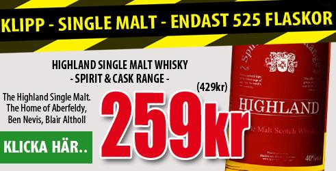 259kr Highland Single Malt Whisky - Vingrossen.com
