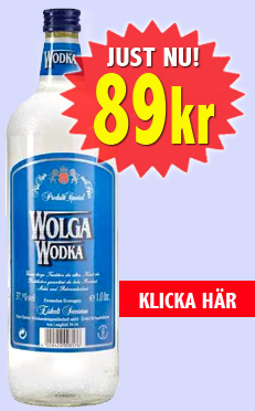 Vodka 1L 89kr