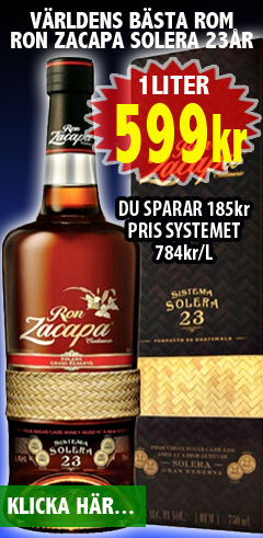 599kr Ron Zacapa 23yrs