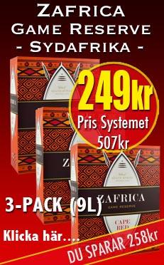 3-pack Zafrica Rött 249kr
